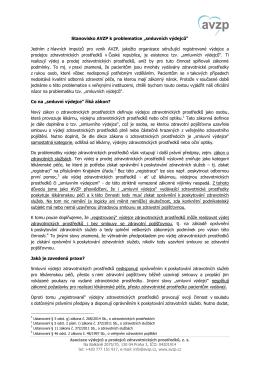 """Stanovisko AVZP k problematice """"smluvních výdejců"""""""