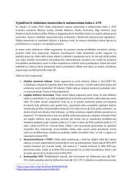 Ve svém stanovisku poslanci uvádí na adresu vlády ČR