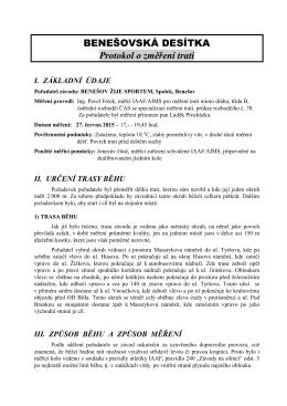 Certifikace trati ke stažení v PDF
