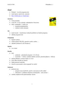 Terminologie v programování