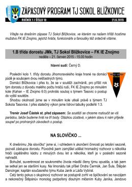 21.6.2015 (1/10) - TJ Sokol Blížkovice