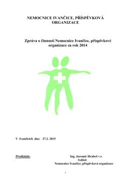 Zpráva o činnosti příspěvkové organizace za rok 2014