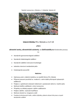 Fakultní nemocnice v Motole a II. lékařská fakulta UK