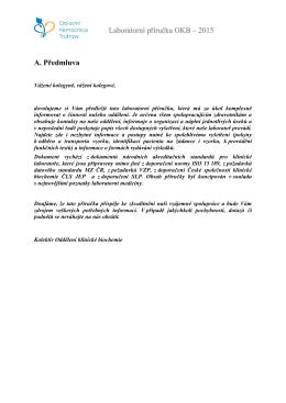 Laboratorní příručka OKB – 2015