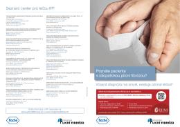 Seznam center pro léčbu IPF Poznáte pacienta s idiopatickou plicní