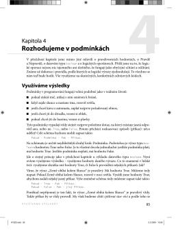 Ukázková kapitola 4 - Rozhodujeme v podmínkách