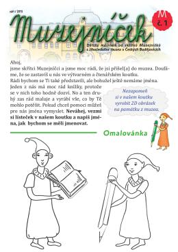 ZÁŘÍ 2015 - Jihočeské muzeum v Českých Budějovicích