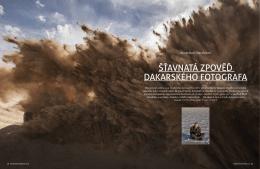 Šťavnatá zpověď dakarského fotografa