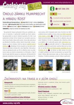 Okolo zámku Humprecht a hradu Kost
