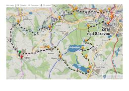 Mapa a itinerář pro cyklisty
