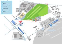Mapa okolí letiste chema vector
