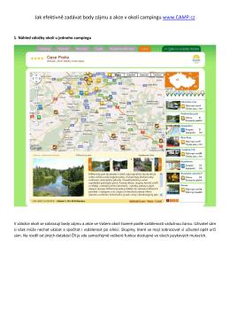Jak efektivně zadávat body zájmu a akce v okolí campingu www