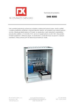 EMB 8000 - PK otvírače oken s.r.o.