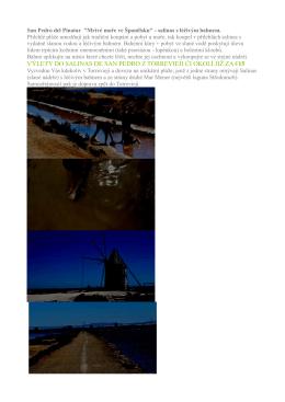 výlety do salinas de san pedro z torrevieji či okolí již za €15