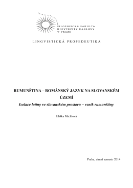 Vznik rumunštiny