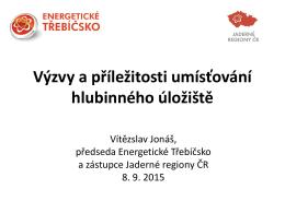 Současná situace z pohledu regionu Třebíč a okolí