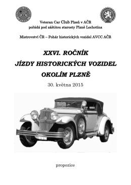 xxvi. ročník jízdy historických vozidel okolím plzně