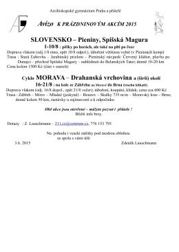 SLOVENSKO– Pieniny, Spišská Magura Cyklo MORAVA