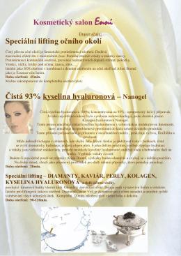 Kosmetický salon Enni Speciální lifting očního okolí Čistá 93