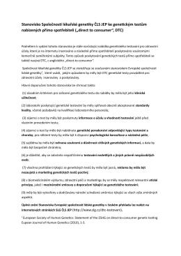 Stanovisko v PDF - Společnost lékařské genetiky ČLS JEP