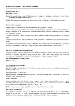 6.5 Rámcová směrnice č. 4 péče o nelesní stanoviště Kód EVL