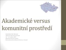 Komunitní prostředí - Moravskoslezská vědecká knihovna v Ostravě