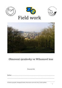 Fieldwork Obnovení sjezdovky