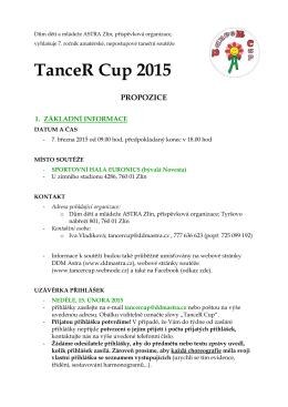 TanceR Cup 2015 - DDM Astra Zlín