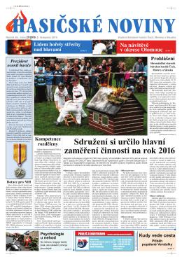 Hasičské noviny č. 21, 6. listopadu 2015
