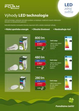 Výhody LED technologie