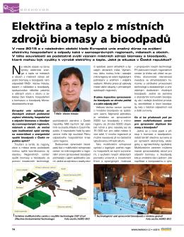 Elektřina a teplo z místních zdrojů biomasy a bioodpadů