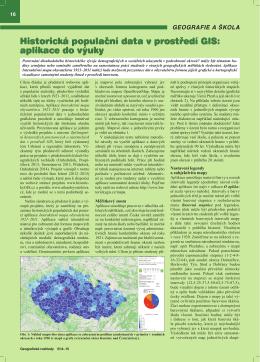Historická populační data v prostředí GIS: aplikace do výuky