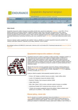Zpoplatnění dopravního zatížení v Evropě Různé plány