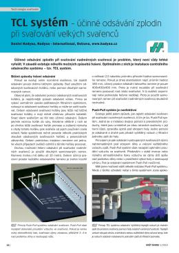 TCL systém – účinné odsávání zplodin při svařování