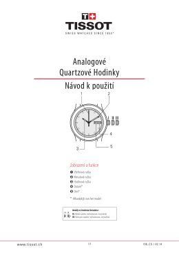 Analogové Quartz hodinky