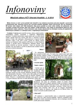 Měsíčník odboru KČT Uherské Hradiště.- č. 6-2014