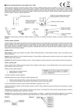 CZ Návod k použití bezdrátového zvonku Solight 1L39 a 1L39B