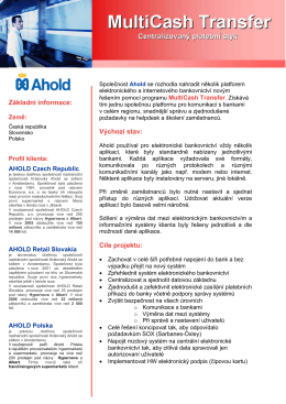 Základní informace - Management Data Praha