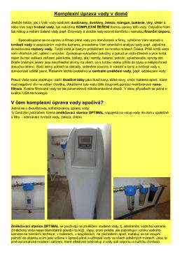 Zajímá vás komplexní úprava vody v rodinném domě?