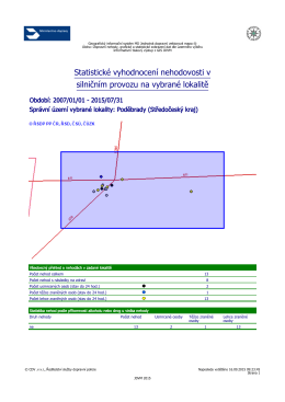 Statistika nehod v dotčené lokalitě ve formátu pdf.