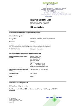 BEZPECNOSTNl LIST O2 electrolyte