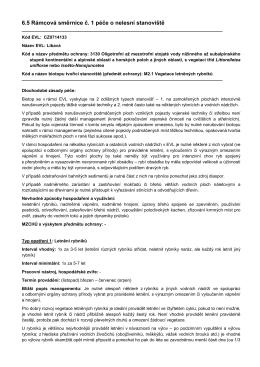 6.5 Rámcová směrnice č. 1 péče o nelesní stanoviště