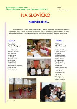 NA SLOVÍČKO - Základní škola Odolena Voda