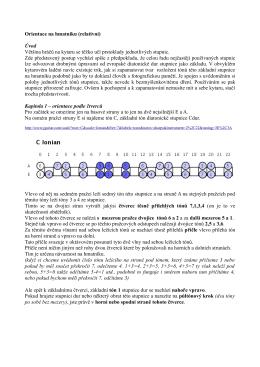 Orientace na hmatníku (relativní) Úvod Většina