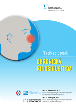 chronická rinosinusitida - Česká společnost otorinolaryngologie a