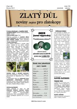 noviny nejen pro zlatokopy