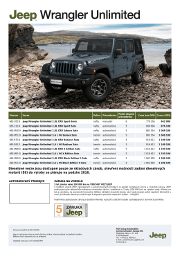 Dieselové verze jsou dostupné pouze ze skladových zásob