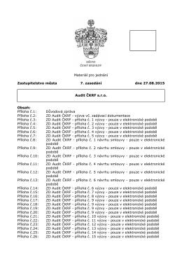 Příloha č.1 - Dokumenty pro Zastupitelstvo města Český Krumlov