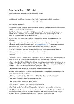 Rada rodičů 14. 9. 2015