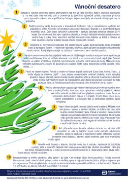 Vánoční desatero - Abbott Diabetes Care Česká republika
